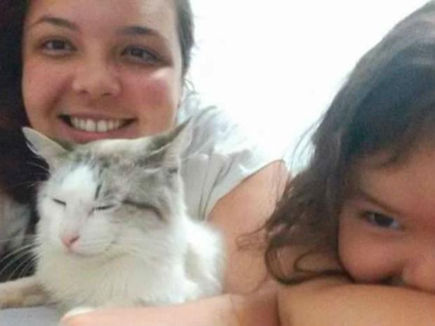 Família procura por gato que desapareceu após acidente grave em Mairinque (Foto: Arquivo Pessoal)