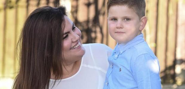 Ben e a mãe (Foto: Reprodução)