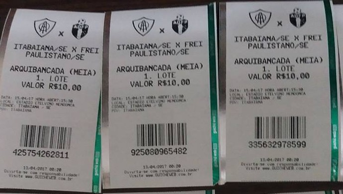 Ingressos para Itabaiana x Frei Paulistano (Foto: Divulgação/AOI)