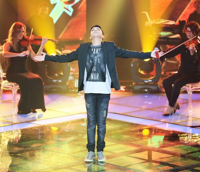 Wagner Barreto é o vencedor do 'The Voice Kids' (Foto: Isabella Pinheiro/Gshow)