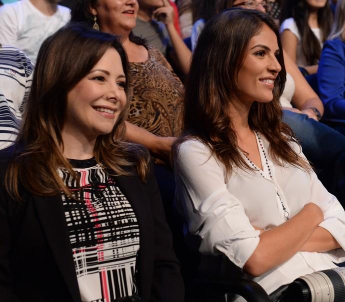 Noely com a nora, Monica Benini,casada com Junior há quase dois anos (Foto: Zé Paulo Cardeal / TV Glovo)