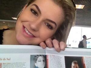 Revista em que Alice apareceu (Foto: Arquivo Pessoal/Instagram)