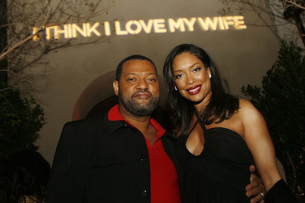 O ator Laurence Fishburne com a esposa, Gina Torres (Foto: Getty Images)