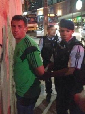 Mexicano foi preso após caso de agressão (Foto: Reprodução)