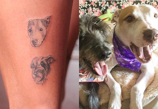 Vanessa Mesquita homenageou Thor e Jack com tatuagens (Foto: Adriana Barbosa/ Divulgação/ Agência Fio Condutor)