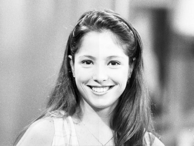 Roberta na época que ainda atuava na TV (Foto: CEDOC / TV Globo)