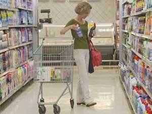 Supermercado na cidade de Campinas (Foto: Reprodução / EPTV)