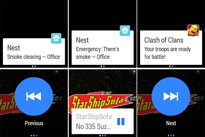 Android Wear poderá mostrar notificações individualmente e usuários poderão interagir com apps (Foto: Arte/Divulgação)