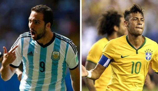 Argentina x Brasil (Foto: montagem/GE)