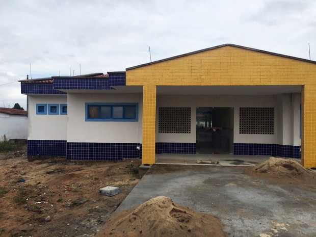 Creche onte os adolescentes foram assassinados ainda está em construção (Foto: Marksuel Figueredo/Inter TV Cabugi)