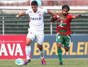 Gabriel Xavier no jogo Portuguesa e América-RN  (Foto: Marcos Bezerra / Futura Press)