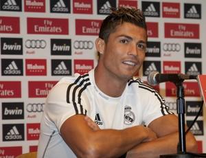 Cristiano Ronaldo concede coletiva nos Estados Unidos (Foto: EFE)