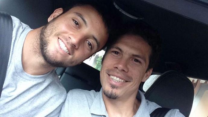Felipe Anderson e Hernanes  (Foto: Arquivo Pessoal )