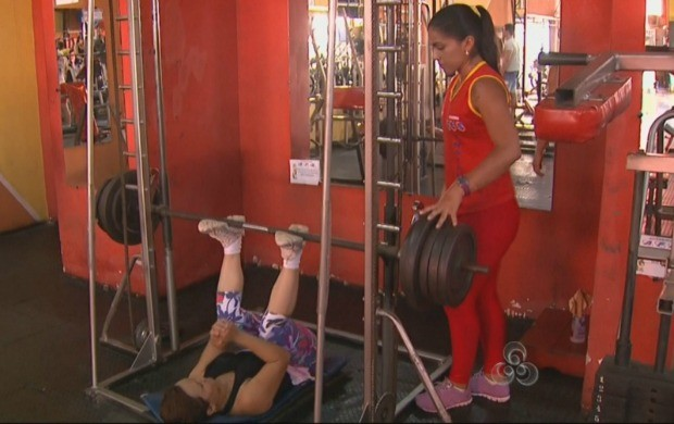 Dieny de Souza também voltou a ser personal trainer (Foto: Amazônia em Revista)