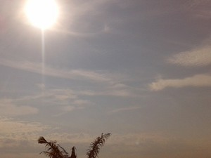 Sol forte, tempo seco e abafado em Rondônia nesta terça-feira (Foto: Suzi Rocha/G1)