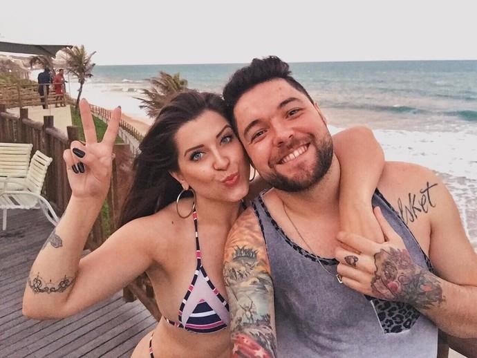 Recentemente, o casal curtiu as férias em Natal (Foto: arquivo pessoal)