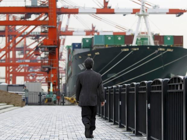 PIB do Japão contraiu 1,4% entre outubro e dezembro, queda maior que a previsão do mercado. (Foto: AFP)
