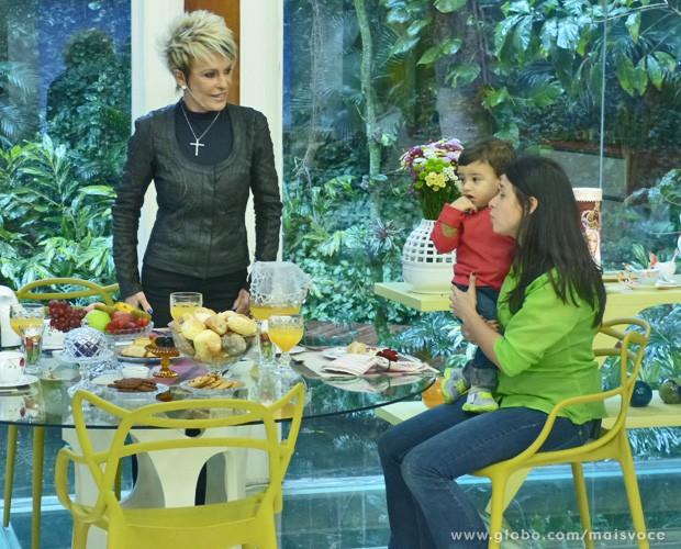 Miguel: criança que Papa Francisco pegou no colo e abençoou (Foto: Mais Você/TV Globo)