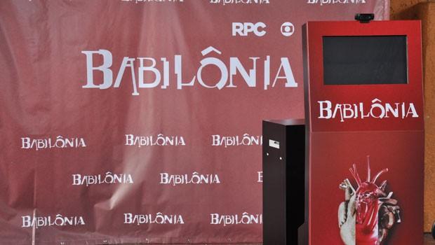 A RPC preparou um painel de foto todo personalizado para os paranaenses registrarem o momento (Foto: Roger Santmor/RPC)