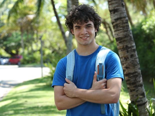 Ghilherme Lobo estreia na televisão como o Bernardo de Sete Vidas (Foto: Raphael Dias / TV Globo)