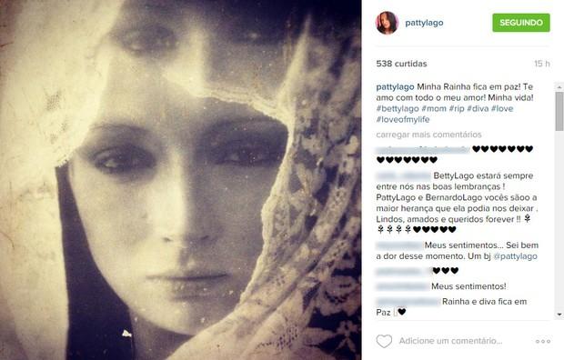 Filha de Betty Lago posta foto (Foto: Reprodução/ Instagram)