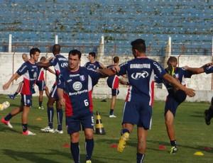 Ruan Guaratinguetá treino físico (Foto: Filipe Rodrigues)