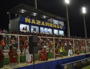 Torcida do América-RN comparece ao Estádio Nazarenão, em Goianinha (Foto: Jocaff Souza)
