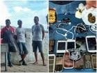 Preso é flagrado ao pegar drogas e celulares em obra de presídio em RR