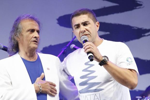 Jasson Goulart teve um dia de Roberto Carlos (Foto: Euricles Macedo/RPC TV)