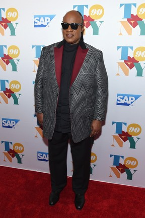 Stevie Wonder em festa em Nova York, nos Estados Unidos (Foto: Jamie McCarthy/ Getty Images/ AFP)