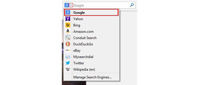 Sistema de buscas pode ser trocado diretamente na caixa de pesquisa no Firefox (foto: Reprodução/Firefox)