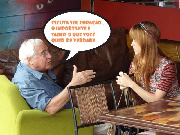 E não é que a moranguinho muda de ideia... (Foto: Malhação/TV Globo)