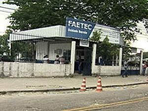 Unidade da Faetec (Foto: Reprodução/TV Globo)