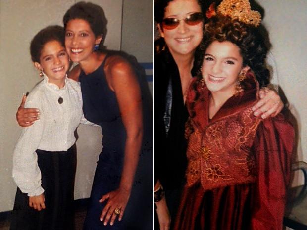 Yana refazia cenas e musicais que marcaram a carreira do elenco da Globo (Foto: Arquivo Pessoal)