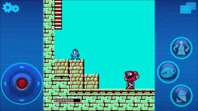 Mega Man Mobile vale a pena para matar a saudade do robozinho azul, mas a conversão tem alguns defeitos (Foto: Reprodução/Google Play)