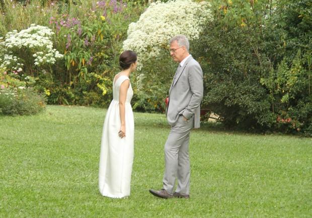 Maria Prata e Pedro Bial (Foto: Thyago Andrade / Foto Rio News)