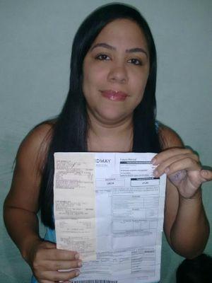 Raquel Melo encontrou boleto, pagou e mandou avisar a dona (Foto: Arquivo Pessoal)