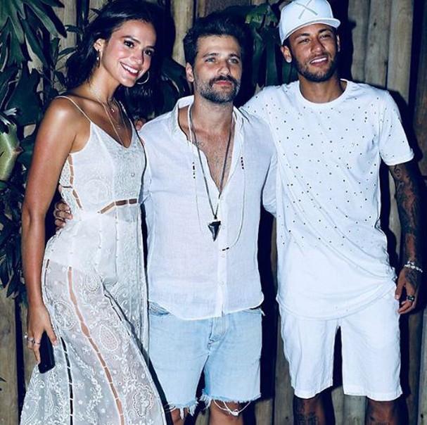 Bruna, Gagliasso e Neymar (Foto: Reprodução Instagram)