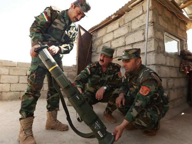 Peshmergas curdos também deverão ter papel chave na batalha (Foto: Reuters/Ari Jalal)