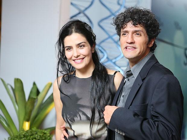 Letícia Sabatela acompanhou o marido Fernando Alves Pinto (Foto: Isabella Pinheiro/Gshow)