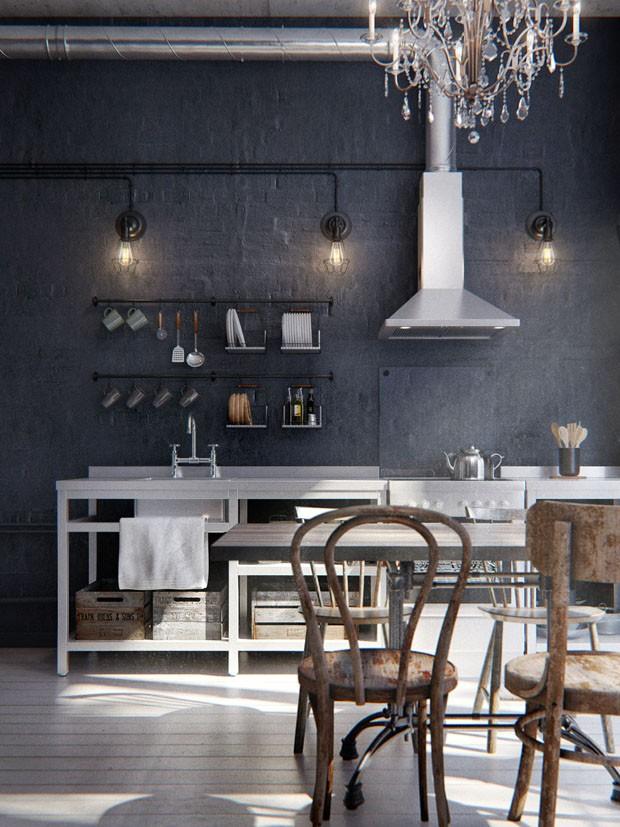 Est dio de 40 m com estilo industrial casa vogue for Pintura estilo industrial