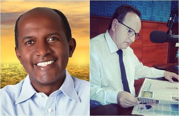Candidato Marlúcio Pereira (PSB) e seu vice, William Ludovico (PTB) (Foto: Divulgação)