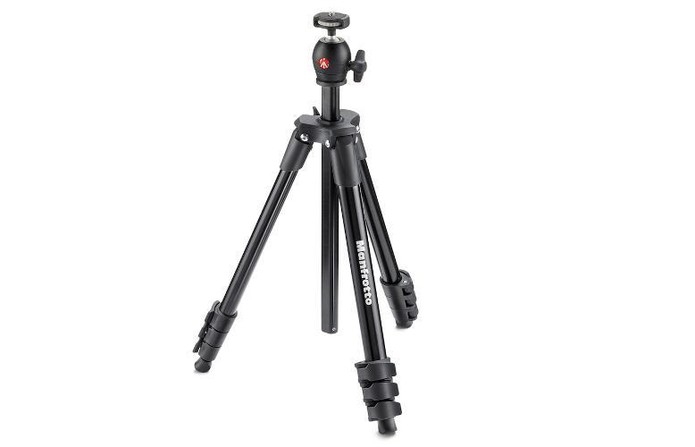 Tripé Manfrotto tem design compacto e leve, compatível com diversas câmeras (Foto: Divulgação/Mranfrotto)