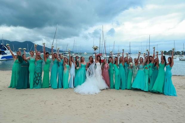 Casamento do ex-BBB Rogério (Foto: Denilson Santos e Raphael Castello/AgNews)