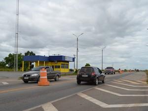 Movimentação ainda é tranquila nas saídas da cidade (Foto: Natacha Portal/ G1)
