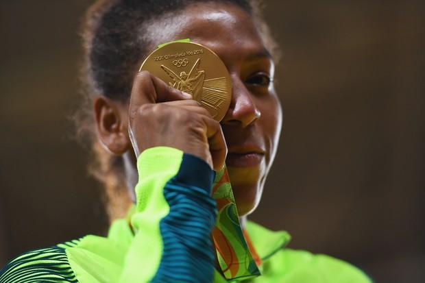 Rafaela Silva, primeiro ouro olímpico braslieiro na Rio 2016 (Foto: David Ramos/Getty Images)