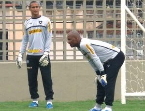 Jefferson e Renan no treino do Botafogo (Foto: Thales Soares / Globoesporte.com)