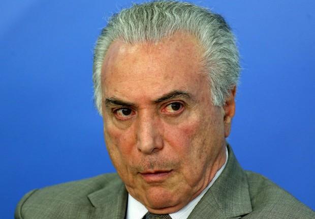 O presidente Michel Temer em cerimônia no Planalto (Foto: Adriano Machado/Reuters)