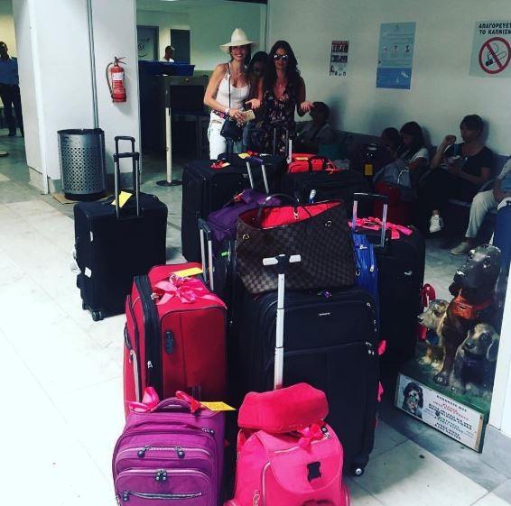 Luciana Gimenez mostra quantidade de bagagens (Foto: Reprodução / Instagram)