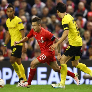 Philippe Coutinho Liverpool x Borussia Dortmund  (Foto: Getty Images)